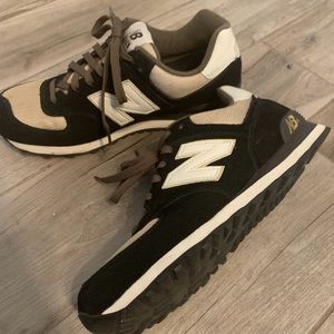 NEW BALANCE Classic Sneakers, White, Green & Black